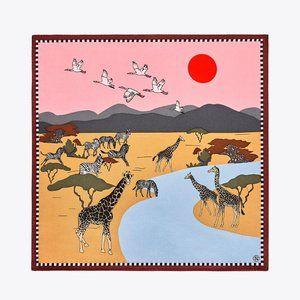 NWT Tory Bruch Safari Silk Neckerchief
